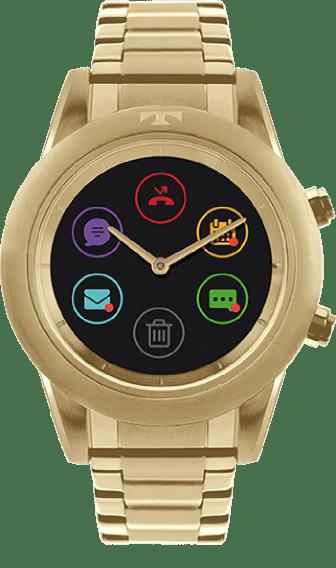 4c8109ce275 Relógio Technos Connect Duo Dourado P01AC 4P